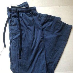 Hanes Mens Blue Drawstring Pajama Pants size 32/34